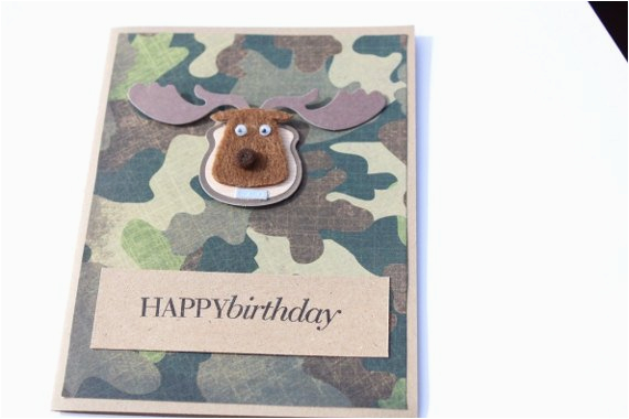 hunting birthday card camouflage