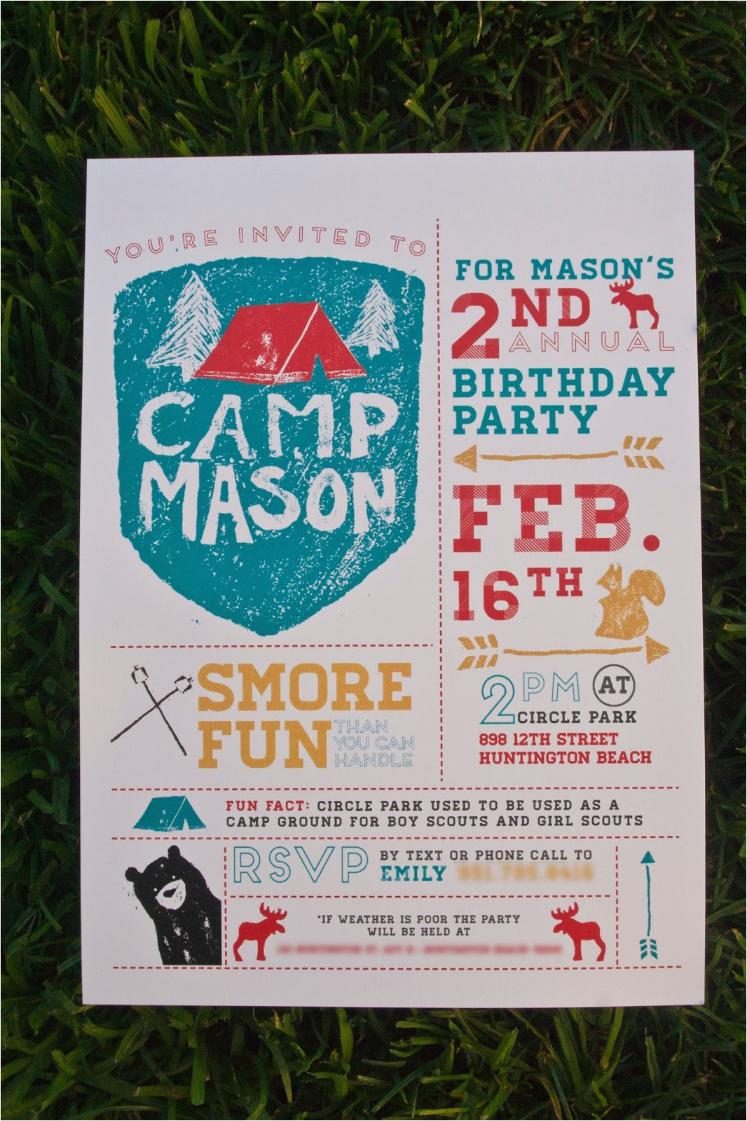 Camping Birthday Invites Emily Camp Design Design Fancy Camping Party Invitation