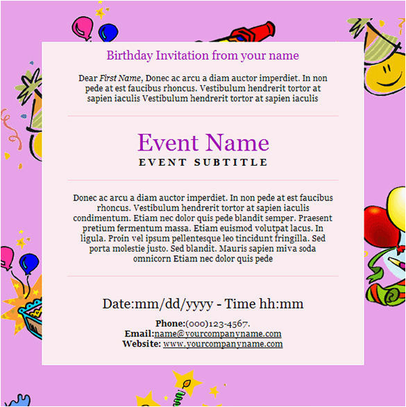 9 happy birthday email templates html psd free