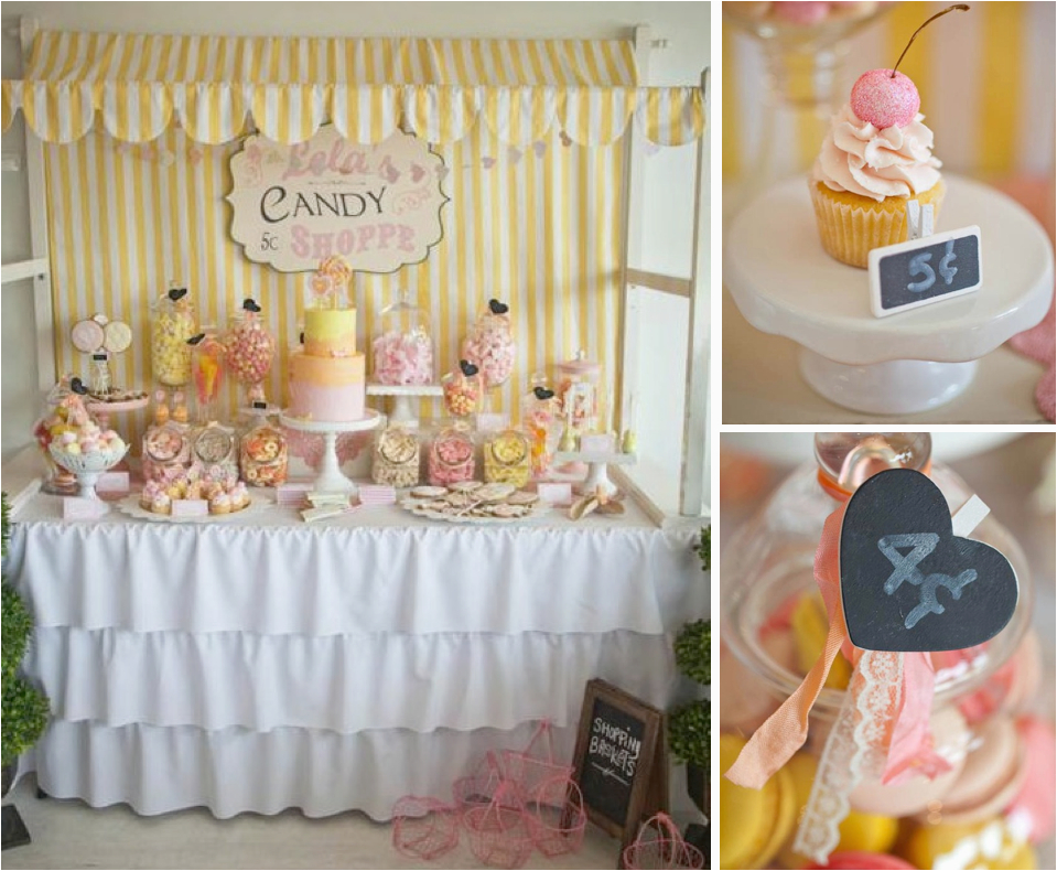 vintage candy shoppe 6th birthday party