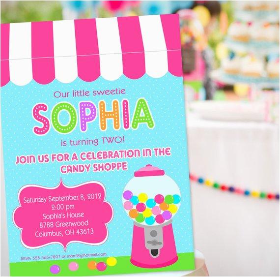 sweet shoppe party invitation sweet 16 invitation sweet