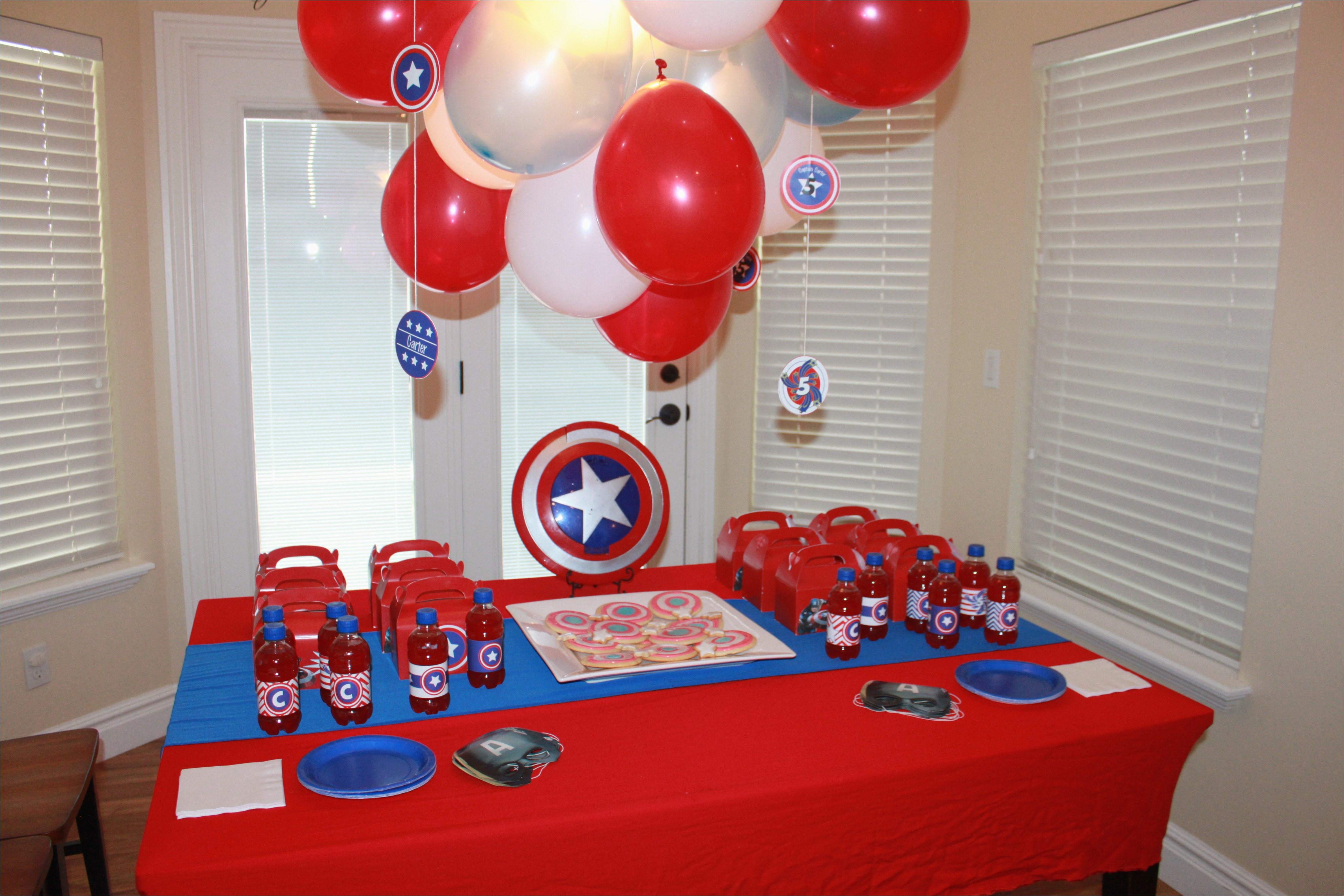 Captain America Birthday Decorations Captain America themed Birthday Party events to Celebrate