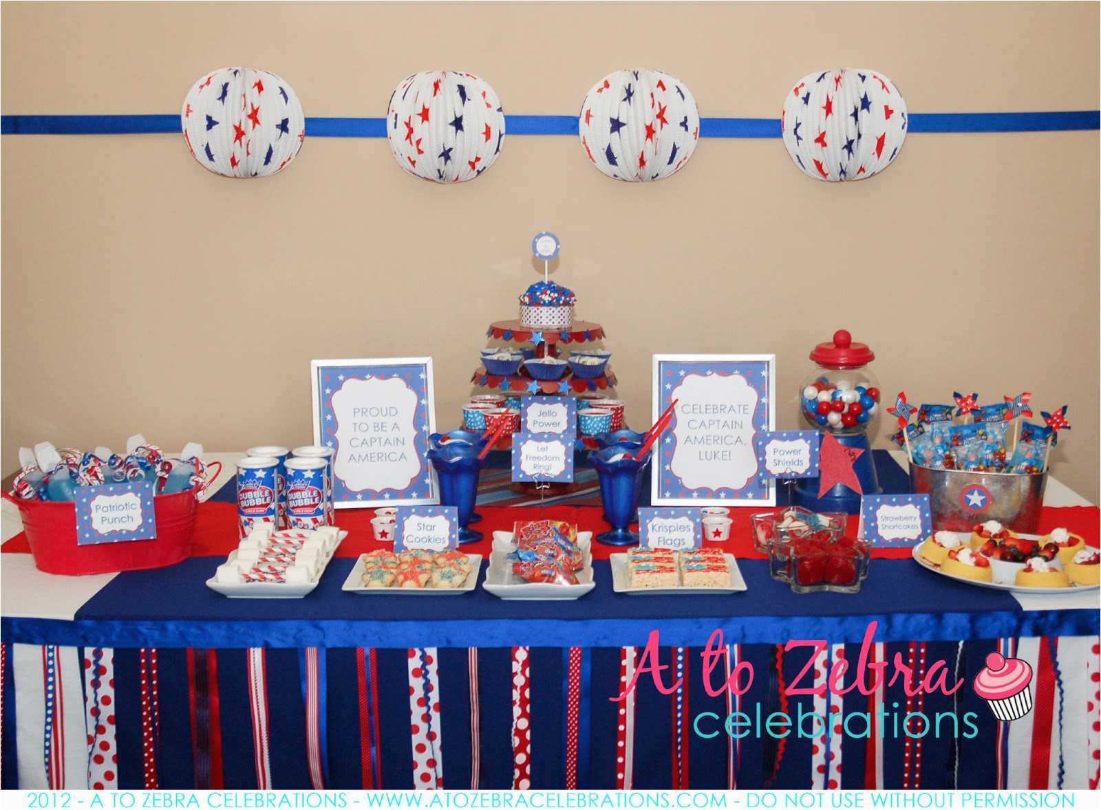 captain america party ideas and