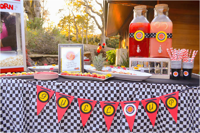race car themed birthday party