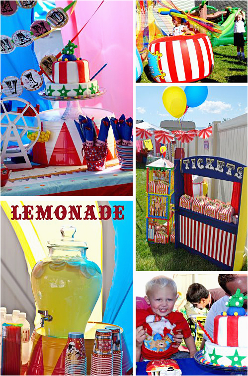 big top circus birthday party