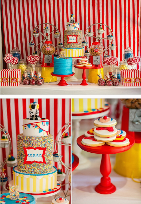circus carnival 5th birthday party