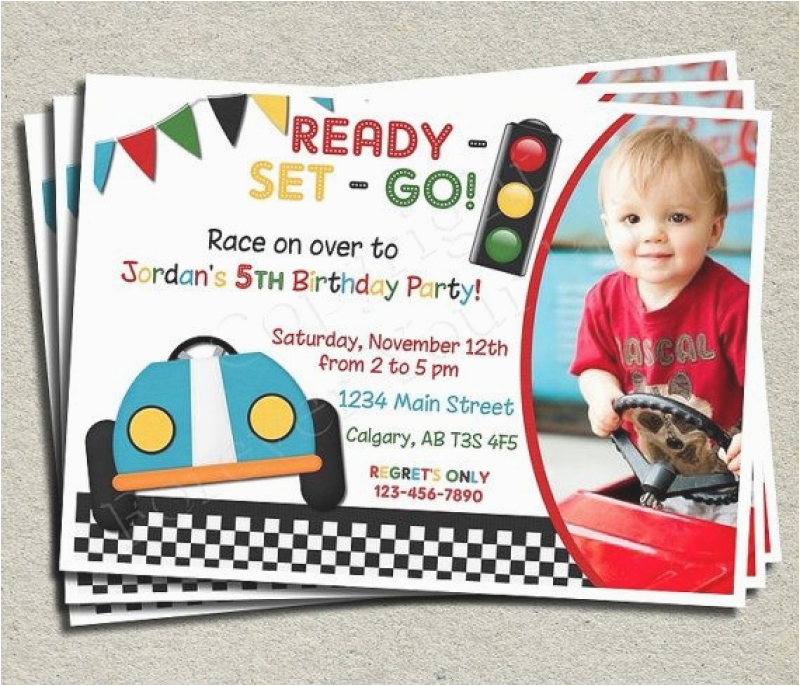 cars theme birthday invitation words