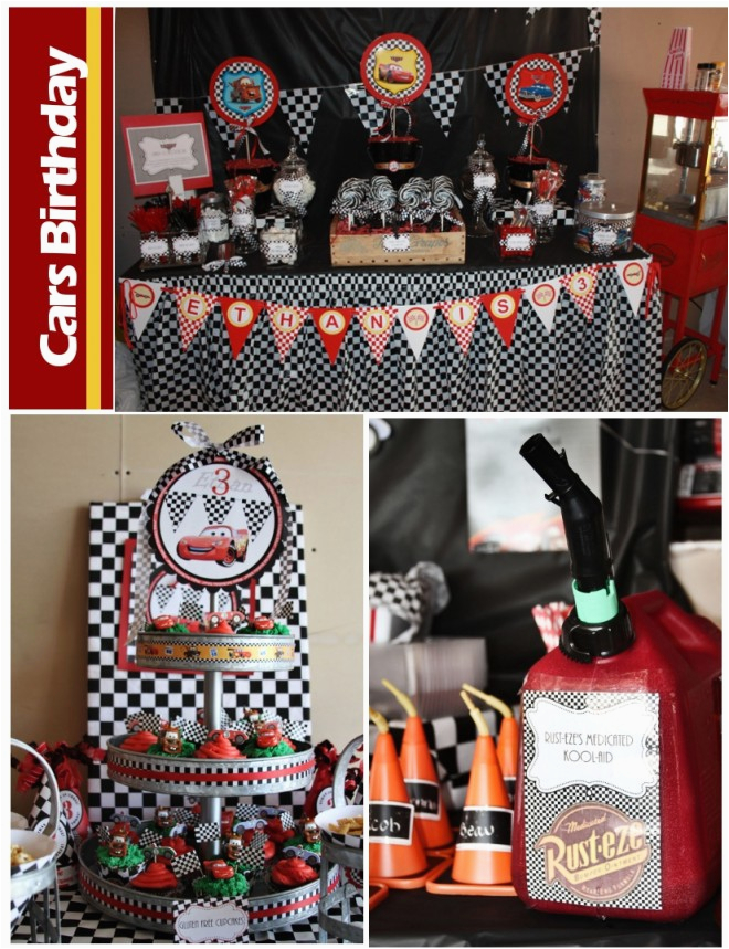 Cars 2 Decorations For Birthday Parties Disney Party Pizzazzerie
