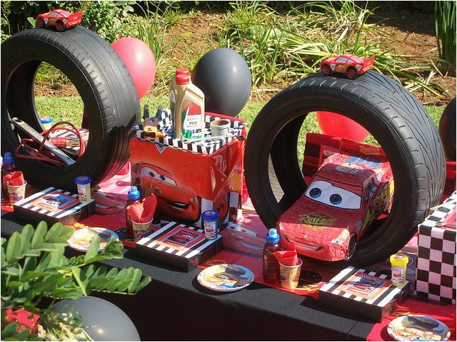 disney pixar cars theme birthday party idea