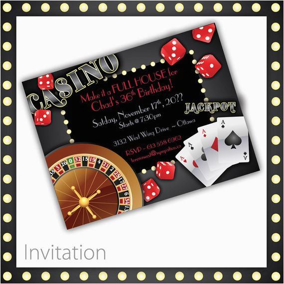 casino invitations casino night casino