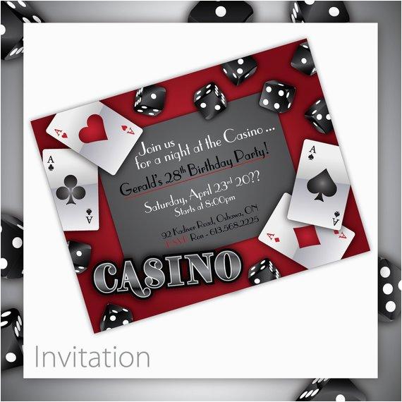 casino party invitations gamble love
