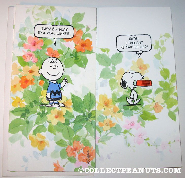 Charlie Brown Birthday Cards Peanuts Collectpeanuts Com