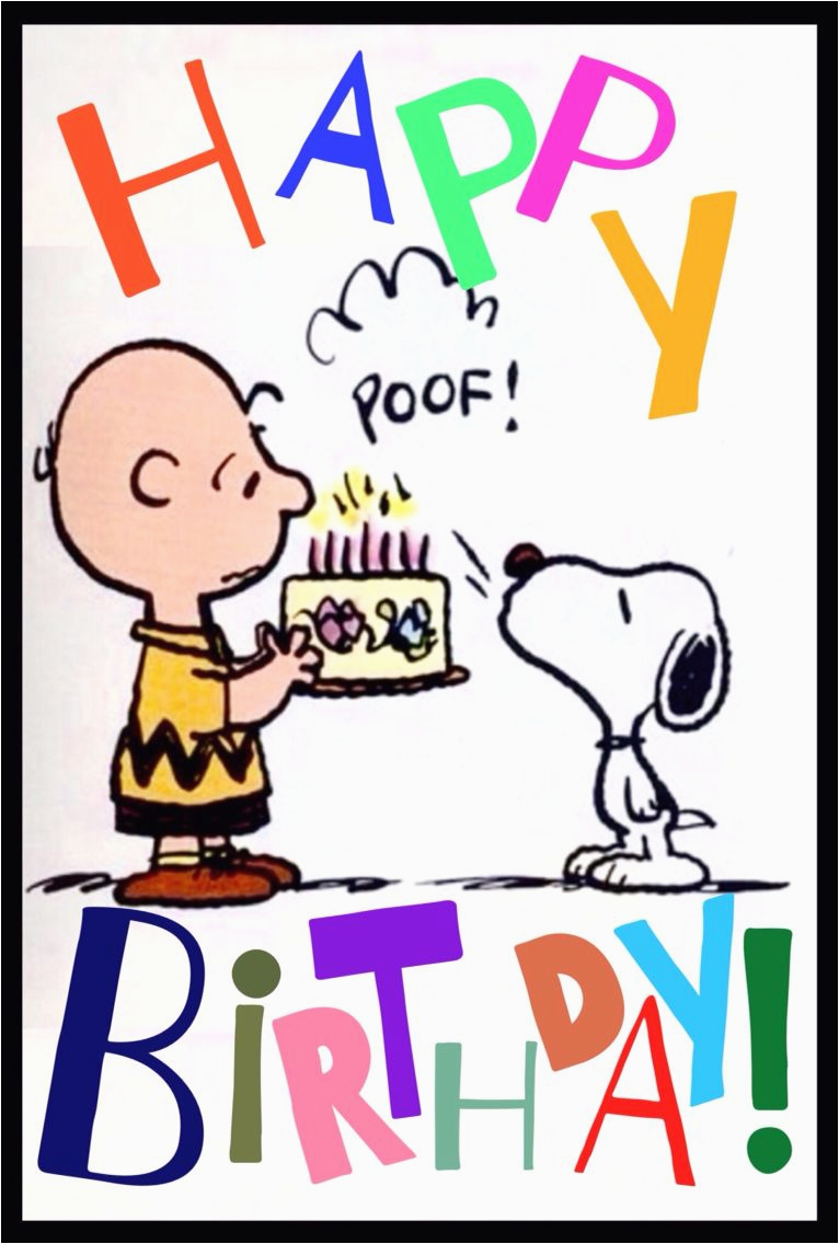 Charlie Brown Birthday Cards Quot Happy From And Snoopy