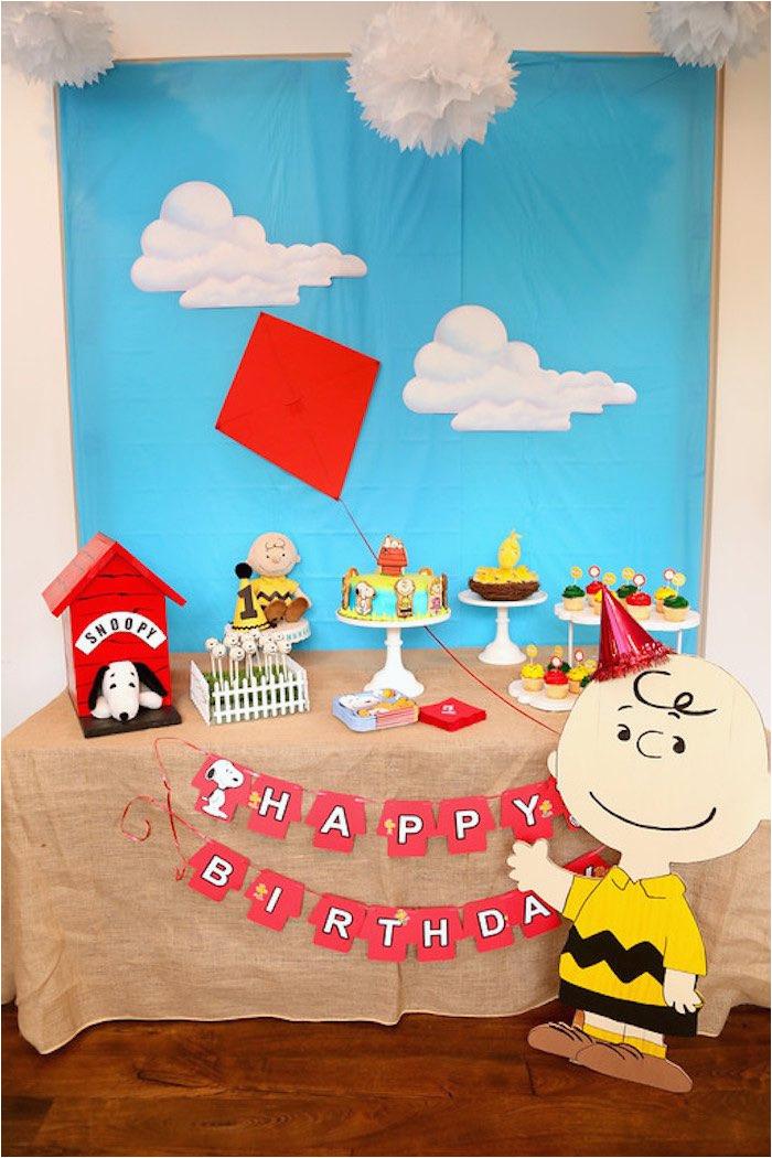 peanuts charlie brown birthday party