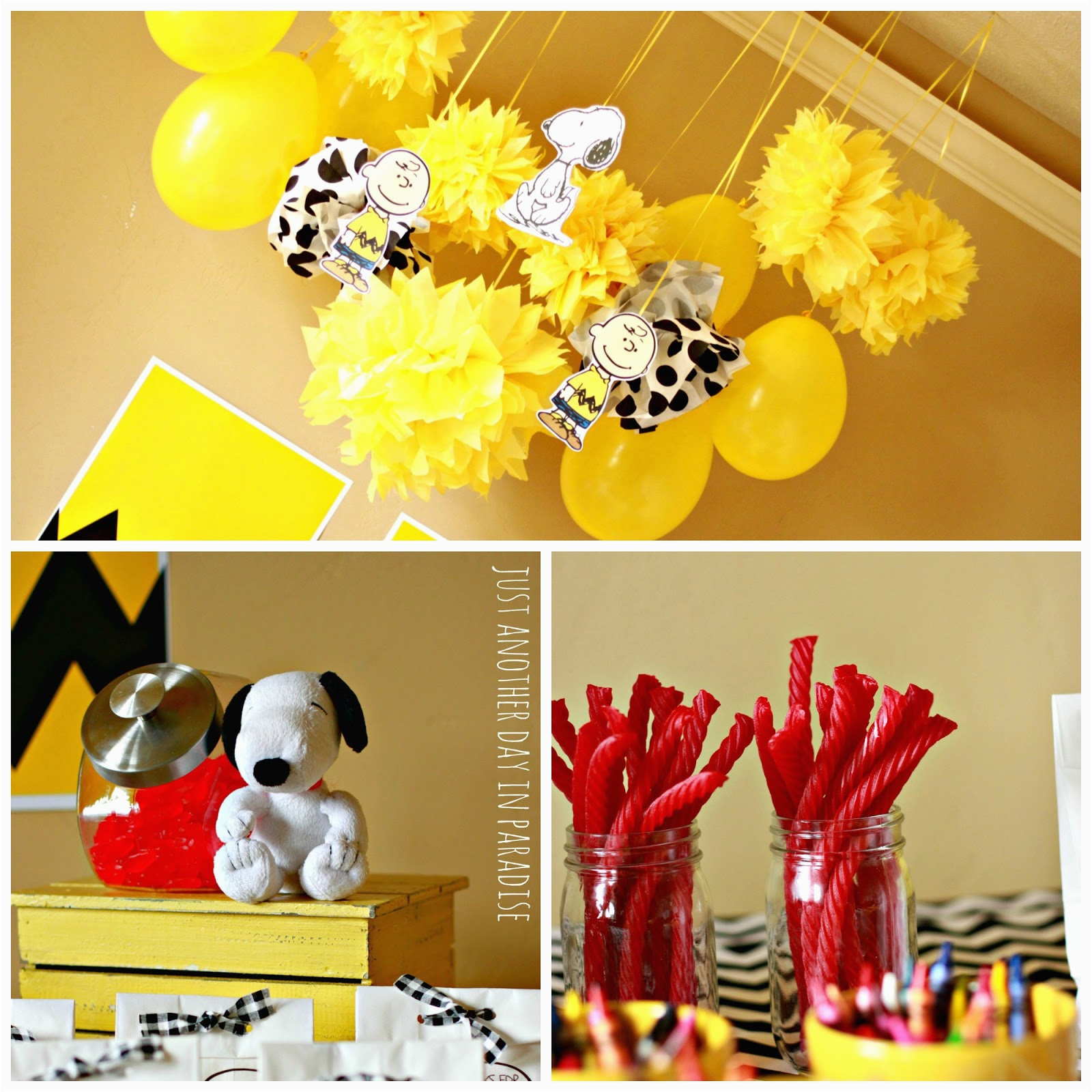 a charlie brown birthday party