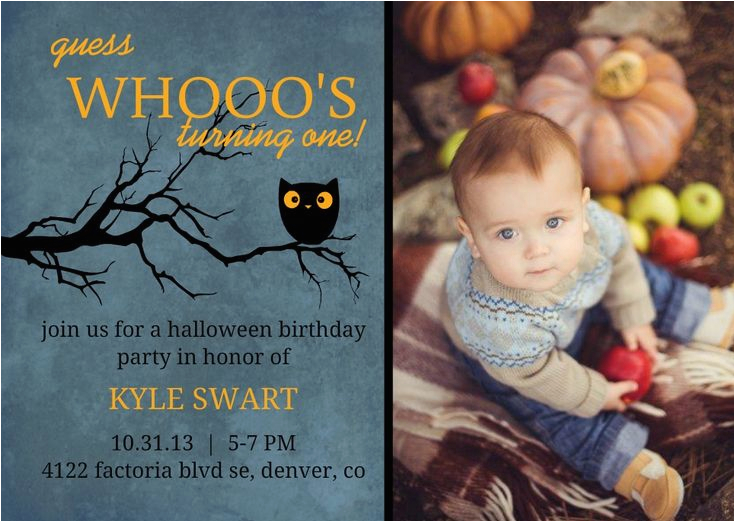 Cheap 1st Birthday Invitations Halloween themed First Birthday Party