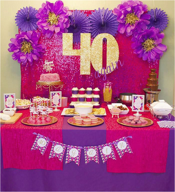 cheap 40th birthday decorations ideas auntie sharon bday