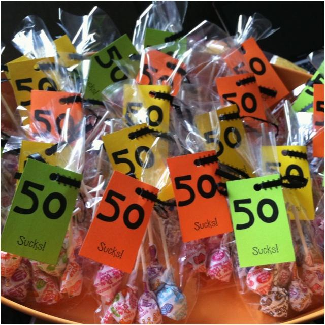 50th birthday favors