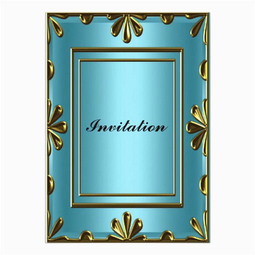 cheap birthday party invitation elegant blue 161170647553359678