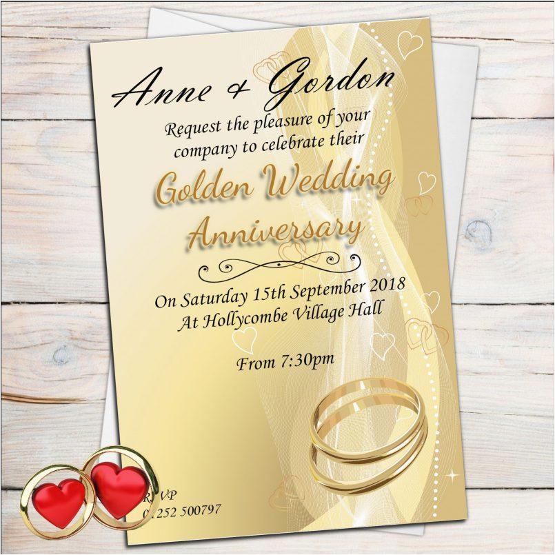 templates photo invitations for th wedding anniversary als