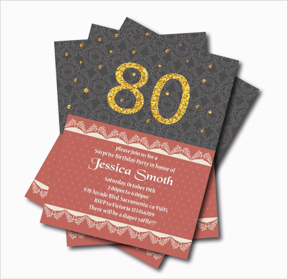 Cheap 80th Birthday Invitations Online Buy Wholesale 60th Cards From China