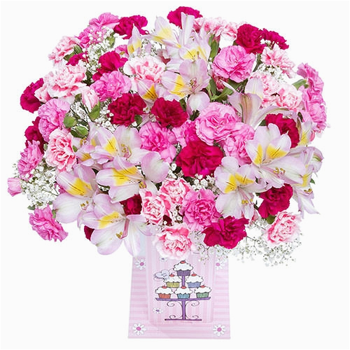 Cheap Birthday Flowers Delivery Birthday Card Vase Gift