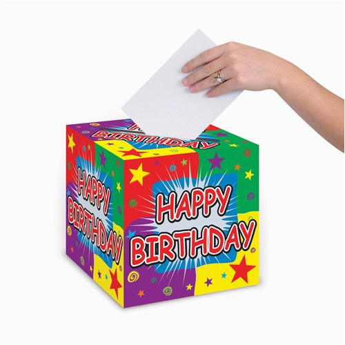 happy birthday card box 9 inch partycheap