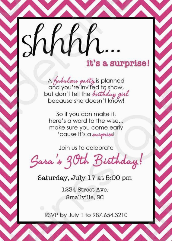 Best Surprise Party Invitation Ideas Free Download Invitations