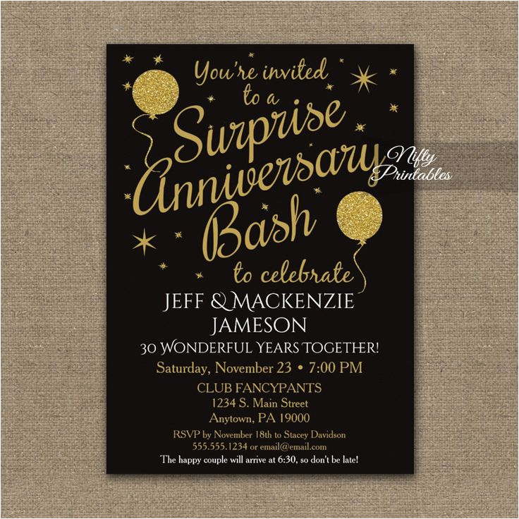 the best anniversary party invitations ideas