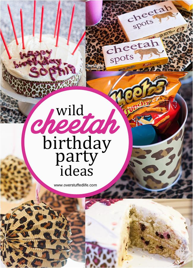 super simple cheetah birthday party