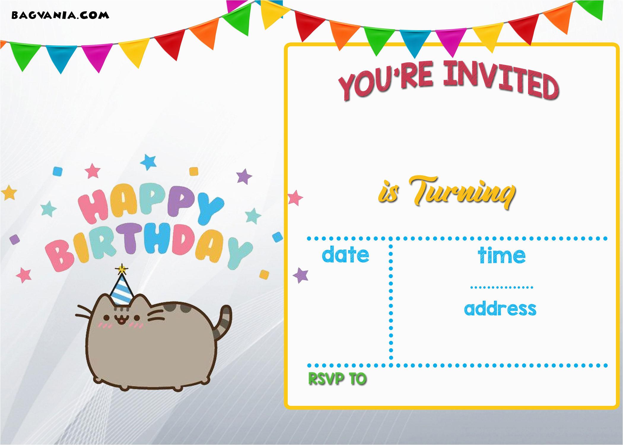 free printable kids birthday invitations