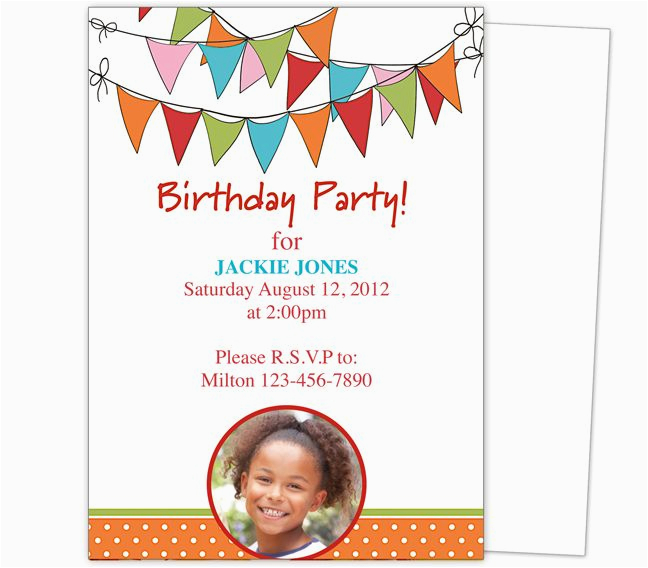 kids birthday party invitation templates