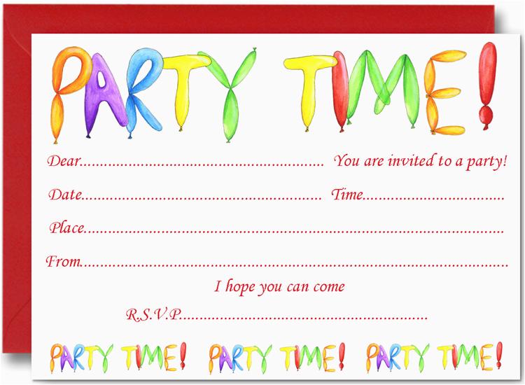 kids birthday party invitation cards