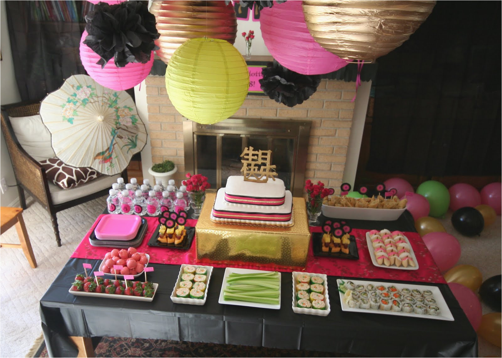 chinese themed birthday party