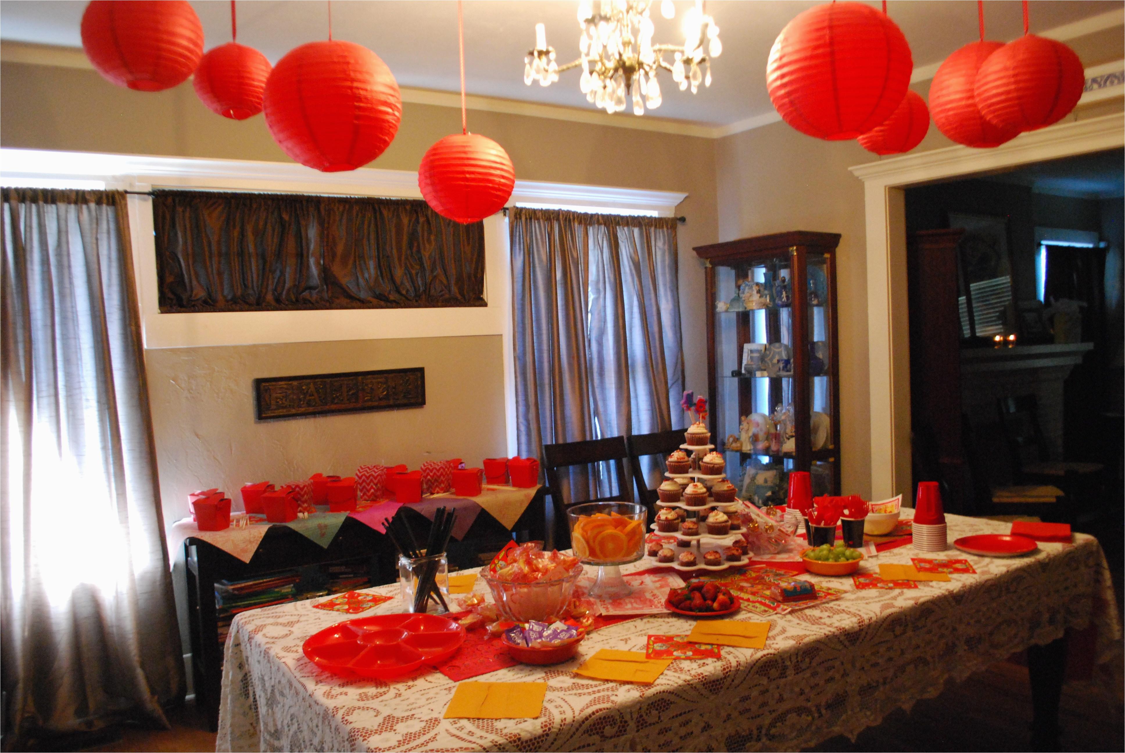 Chinese Birthday Party Decorations Sweet Sixteen Birthday Party Jennifer Mccollum