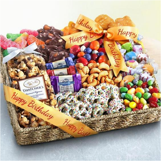 Chocolate Gifts For Her Birthday Party Candies And Crunch Gift Basket