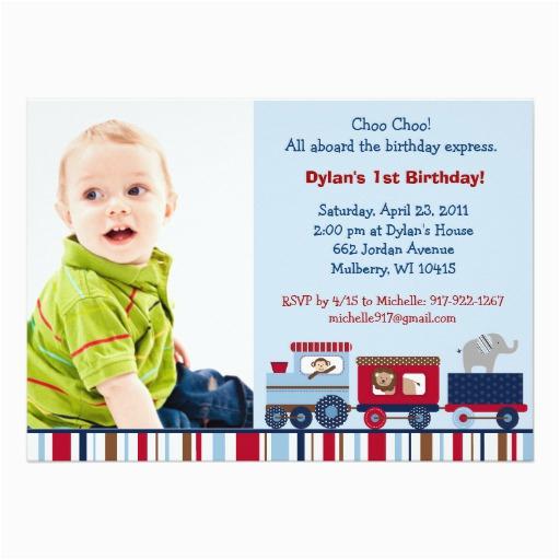 animal choo choo train custom birthday invitations 161702035537093657