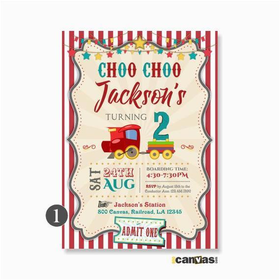 Choo Choo Train Birthday Invitations Choo Choo Invitation Train Birthday Invitation Train Party
