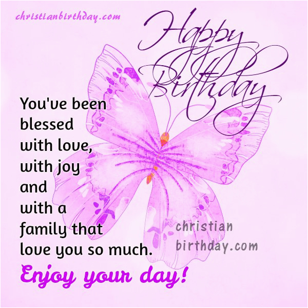 happy birthday to a blessed person free christian card