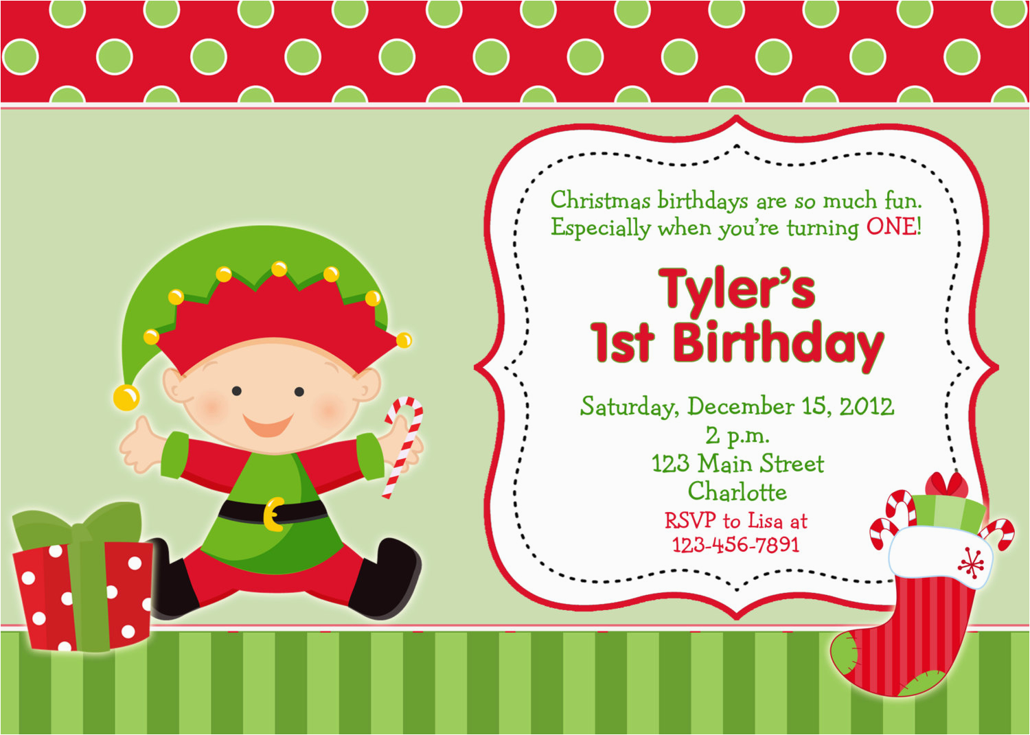 first birthday christmas party