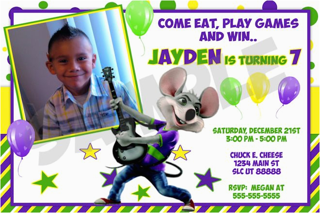 Chuck E Cheese Birthday Invitation Template Invitations