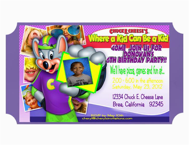 chuck e cheese birthday invitations template