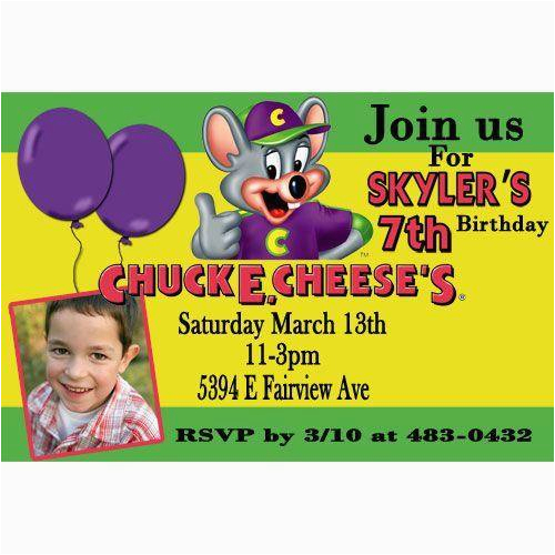 chuck e cheese party invitations