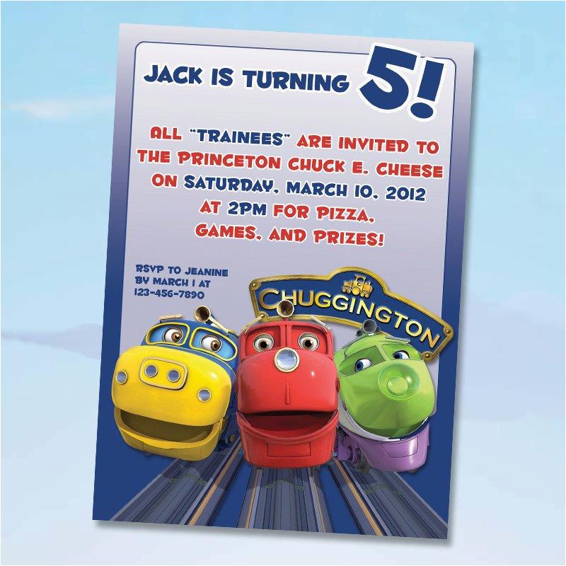 chuggington birthday invitations digital