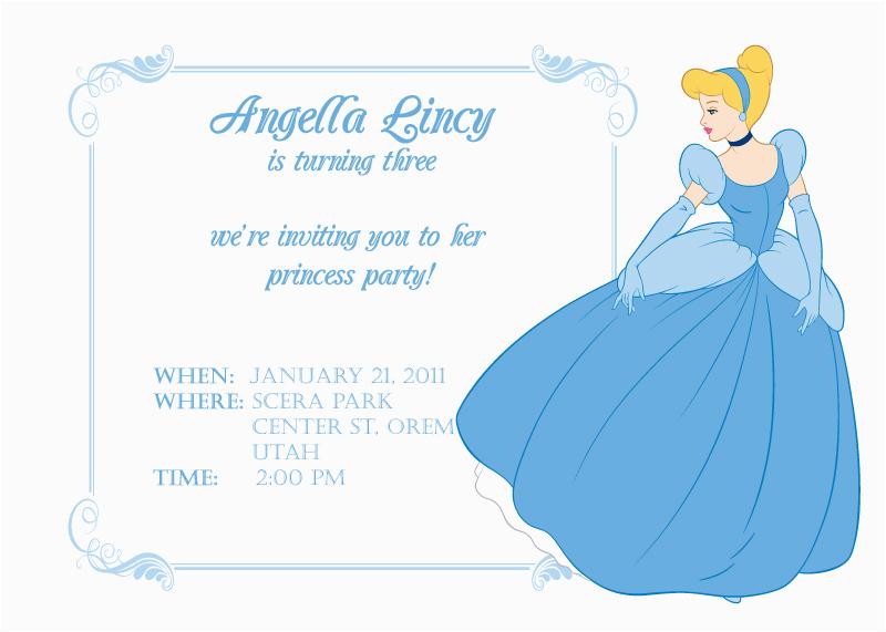 Cinderella Birthday Invitation Template Cinderella themed Party Best events Blog