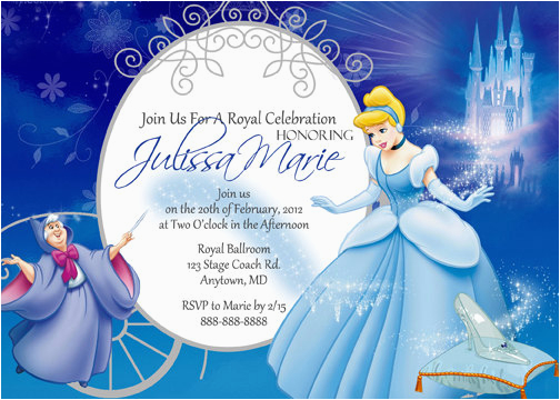 cinderella invitations birthday