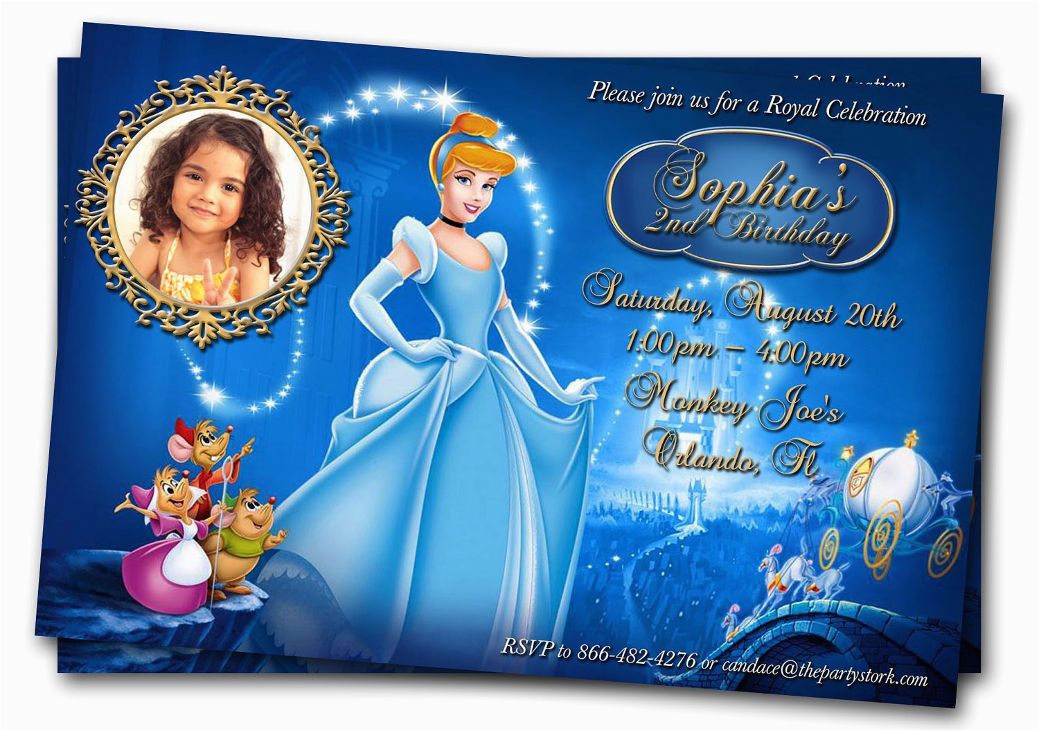 cinderella invitation photo cinderella