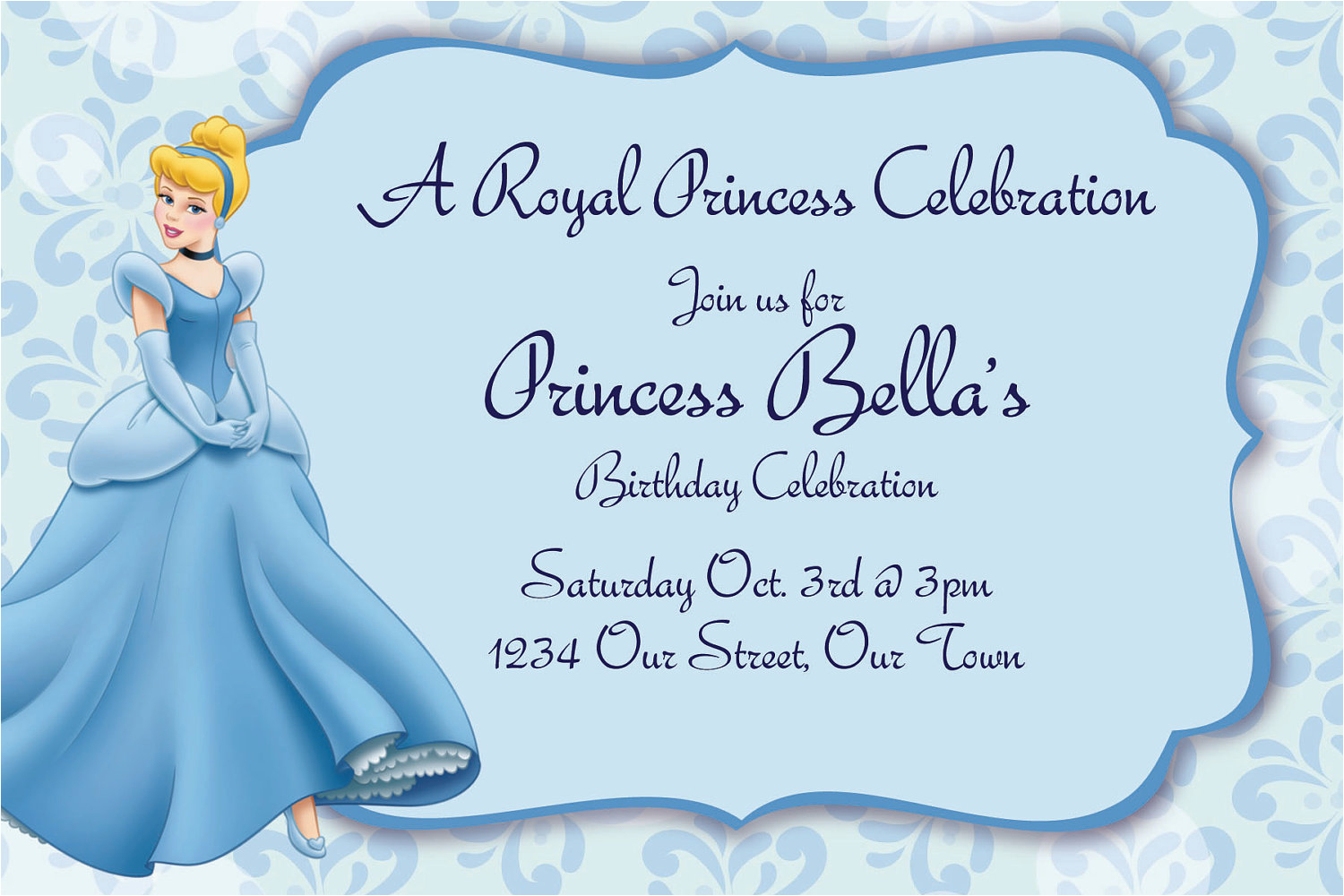 cinderella invitations template