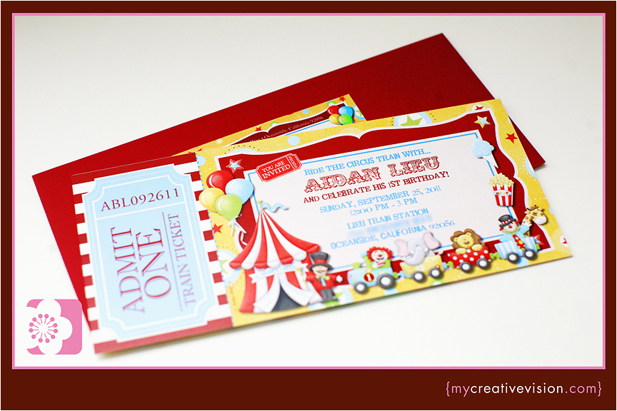 aidans circus train party 1st birthday