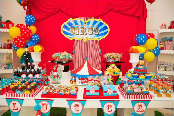 circus themed 1st birthday party 4